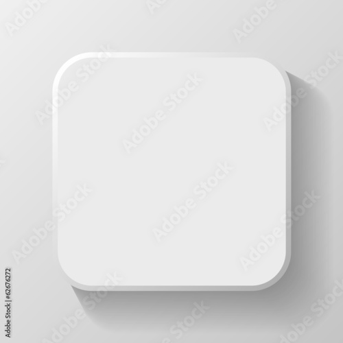White Blank Icon Template for Web and Mobile Button with Shadow