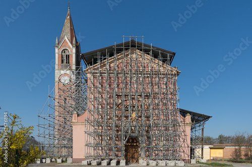 reconstruction of a church