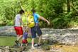 Wanderung im Fluss
