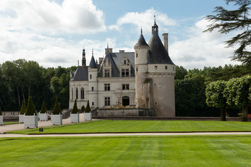 Castle of Chenonceau. in the Loire Valley.