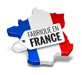 """Icône """"Fabriqué en France"""" vectorielle 1"""