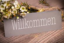 """Постер, картина, фотообои """"Willkommen"""""""