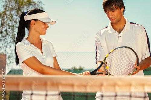 Fototapeta Couple of tennis players