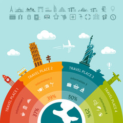 Travel infographics. Easy to replace design elements and infos