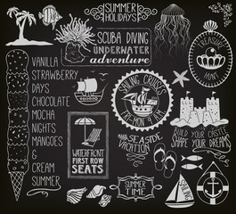 Summer Holidays Chalkboard