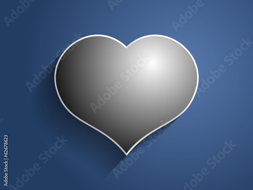 3d Vector illustration of heart icon