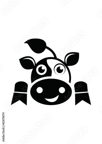 Black White funny Cow