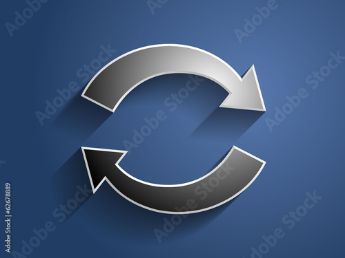 3d Vector illustration of circulation icon