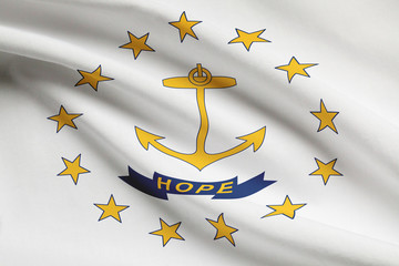Flag series. State of Rhode Island and Providence Plantations.