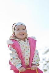 happy toddler girl