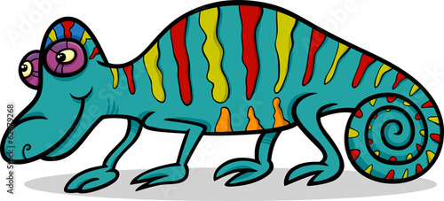 chameleon animal cartoon illustration