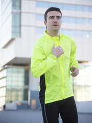 man sport running