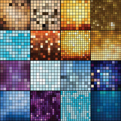 Mosaic vector backgrounds.