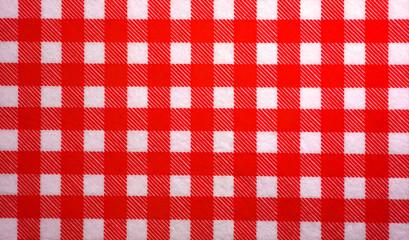 Rot weißes Karo