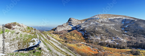 Panoramic of Gorbea mountain. Basque Country