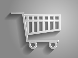 3d Vector illustration of shoppind cart icon