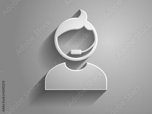3d Vector illustration of support icon