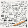 Business Idea doodles icons set. Vector illustration. - 62682405