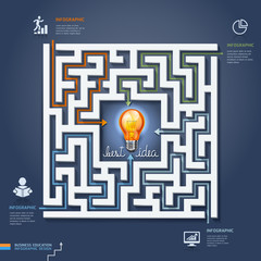 Labyrinth business solutions. Vector illustration.