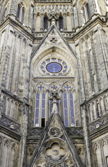 Gothic church facade