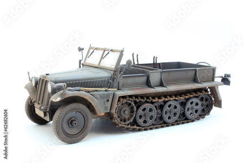 Poster German WWII artillery tractor Sd.Kfz.10 D7