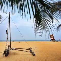 Fishing boat on the beach, Sri Lanka