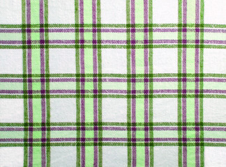 Checkered textile with soft green & violett