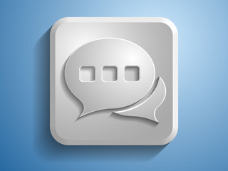 3d Vector illustration of speech icon