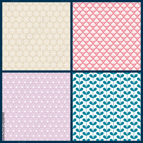 4 Seamless Pattern Retro
