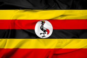 Waving Uganda Flag