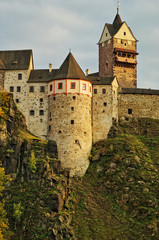 Gothic-Romanesque castle Loket in the Czech Republic