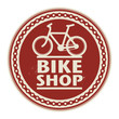 Label or stamp with text Bike Shop, vector