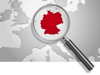 Landkarte *** Europa Deutschland