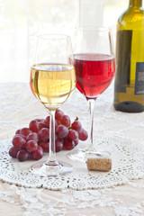 Roter und weisser Wein