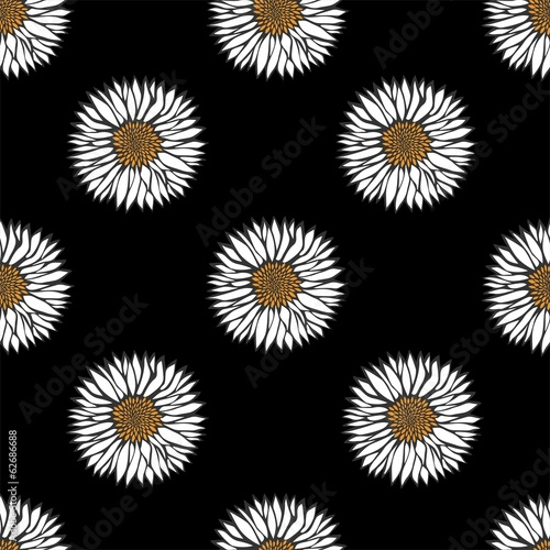 Daisy seamless pattern