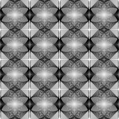 Design seamless monochrome diamond geometric pattern. Abstract d