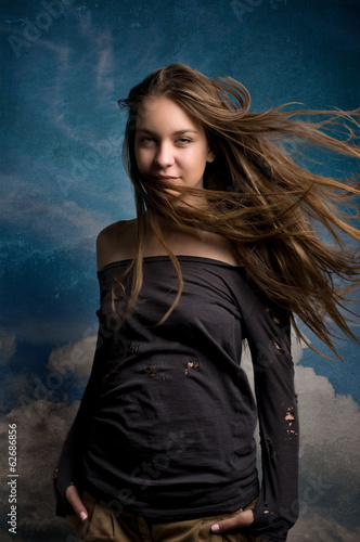 Girl and the sky