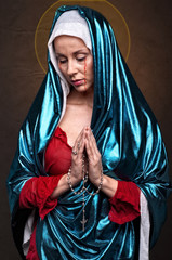 Virgin Mary Crying Blood