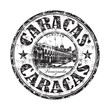 Caracas grunge rubber stamp
