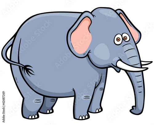 Vector illustration of Cartoon Elephant