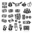 Set of money icons. Vector illustration
