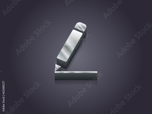 3d Vector illustration of notes icon
