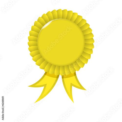 Foto op Canvas Award yellow Ribbon