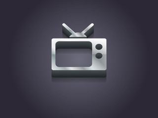 3d Vector illustration of tv icon