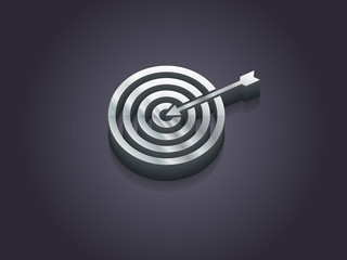 3d Vector illustration of aim icon