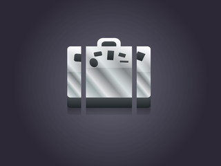 3d Vector illustration of bag icon
