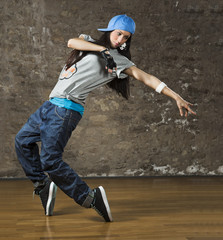 Junge Frau, tanzen Hip-Hop
