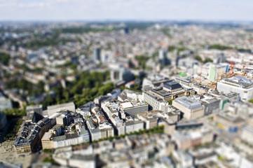 Deutschland, Hessen, Frankfurt am Main, Tilft -Shift- Ansicht der Frankfurter Wertpapierbörse