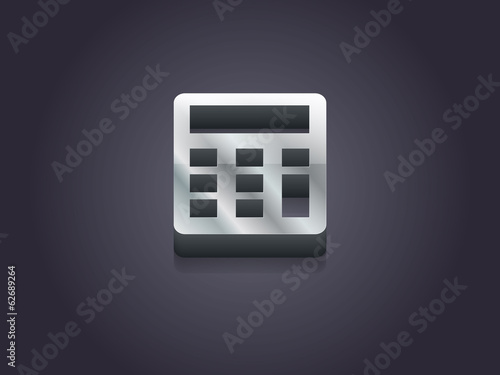 3d Vector illustration of calculator icon