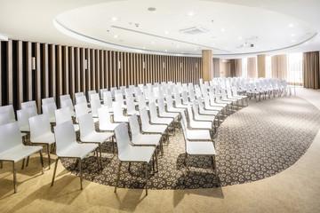 Polen, Warschau, Blick auf Konferenzraum im Hotel